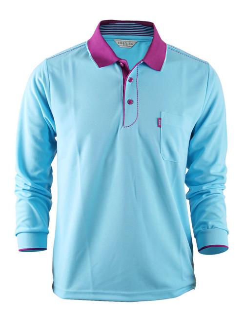 Casual Coolon ATB-UV+ PK Polo t-shirt, long sleeve sportswear t-shirt-sky blue