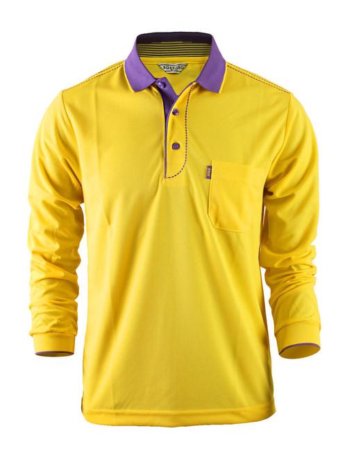 Casual Coolon ATB-UV+ PK Polo t-shirt, long sleeve sportswear t-shirt-yellow