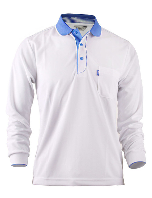 Casual Coolon ATB-UV+ PK Polo t-shirt, long sleeve sportswear t-shirt-white