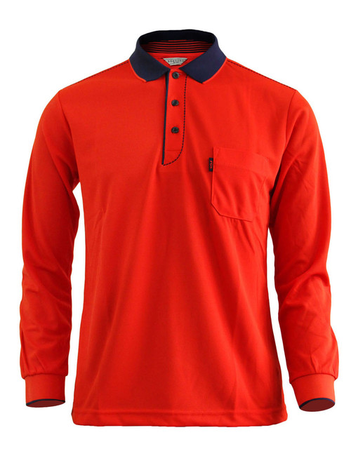 Casual Coolon ATB-UV+ PK Polo t-shirt, long sleeve sportswear t-shirt-scarlet