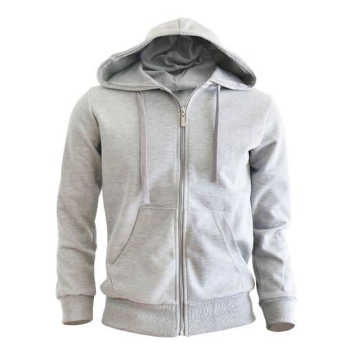 zip hoodie gray hoodie Plain Solid zip up hoodie
