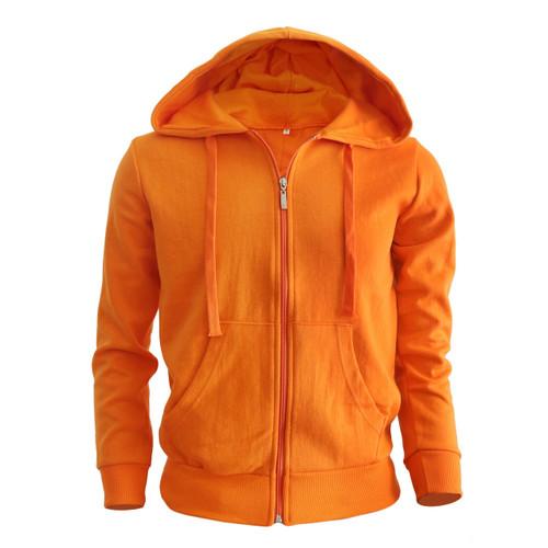 zip hoodie orange hoodie Plain Solid zip up hoodie