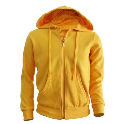 Bcpolo zip hoodie Yellow Zip hoodie Solid Cotton Zip Up hoodie