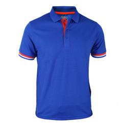 Coolon line point Polo t-shirt, short sleeve-blue