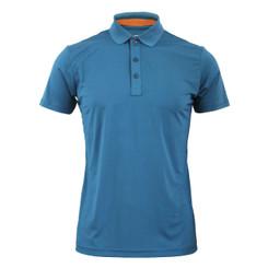 Coolon Spandex polo neck t-shirt-indi_blue