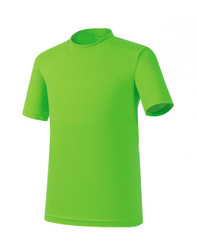 Bcpolo Light-Green Short Sleeves Round T-shirt Crew Neck Cotton tees