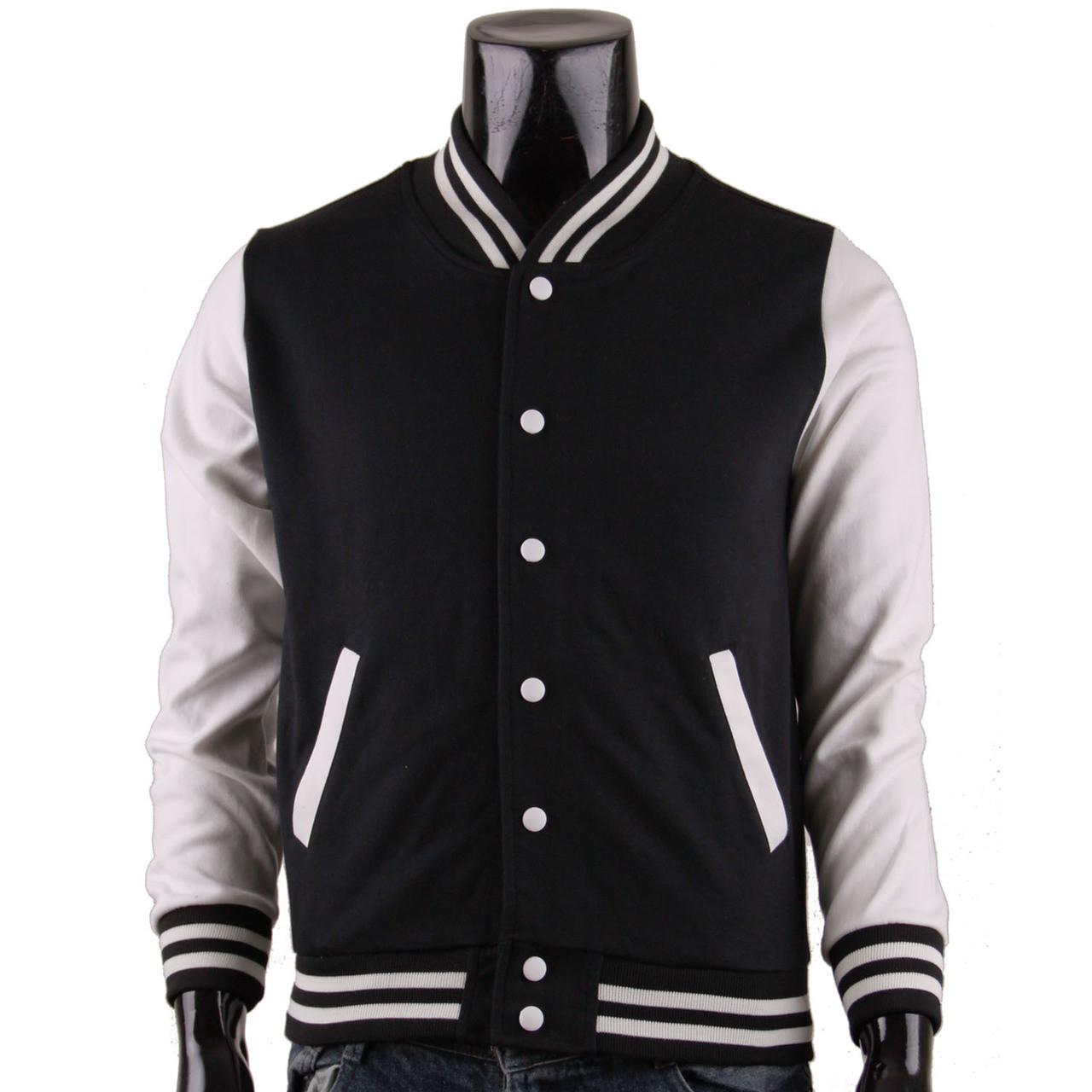 Baseball Jacket Black And White WRKSjj