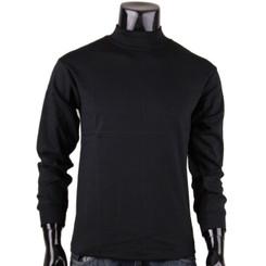 Bcpolo Men's Half Turtleneck Black Mock Neck T-Shirt Long Sleeves Turtleneck T-Shirt.