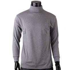 Bcpolo Men's Half Turtleneck Gray Mock Neck T-Shirt Long Sleeves Turtleneck T-Shirt.