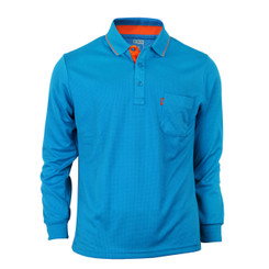 Bcpolo Man's Long Sleeve Polo Shirt_Blue