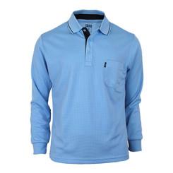 Bcpolo Man's Long Sleeve Polo Shirt_Sky Blue