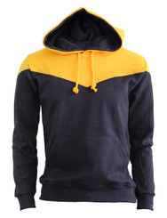 BCPOLO 2Tone Zip Up Long Sleeves Fleece Pullover Hoodie_BROWN_YELLOW