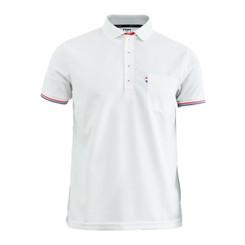 BCPOLO New Summer Golf Wear Short Sleeve Polo Shirt. 4 Color / WHITE