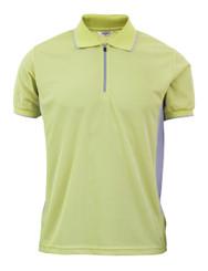 Coolon Sportswear Polo shirts Zip-up style short sleeve shirt. Light green