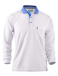 Casual Coolon ATB-UV+ PK Polo t-shirt, long sleeve sportswear t-shirt-white