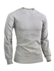 BCPOLO Men's casual round neck style Long Sleeves warm sweat cotton t-shirt.-gray