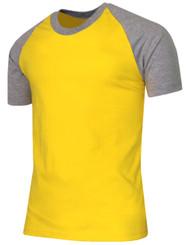 Short Sleeve Raglan Crew Neck T-Shirts-Unisex
