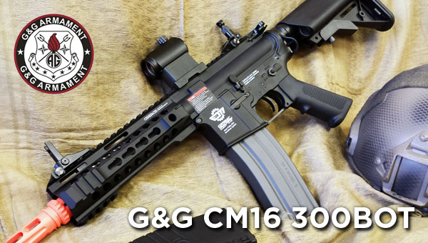 G&G CM16 300BOT M4 Airsoft Rifle Combo