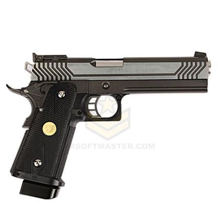 WE Tech HI-CAPA 5.1 Expert GBB Pistol (Silver/Black)