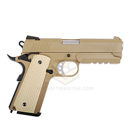 WE Tech 1911 Desert Warrior Socom 4.3 FDE GBB Pistol
