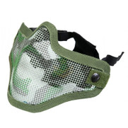 Bravo V1 Steel Half Face Mesh Mask Woodland