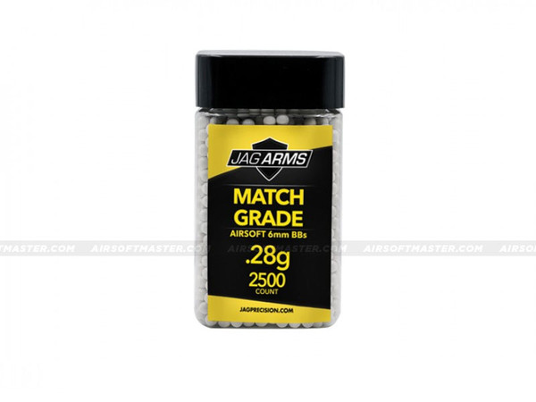 Jag Arms .28g Airsoft BBs 2500R Match Grade White