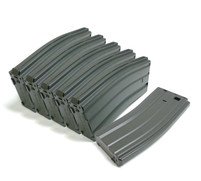 Classic Army 130rd Mid Cap Airsoft Magazines Metal (Box Set of 6)