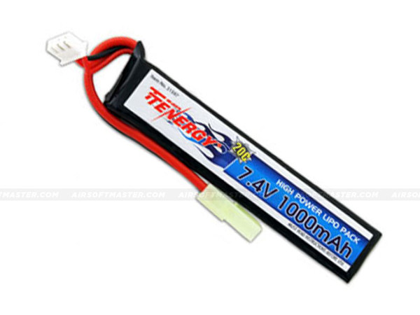 Tenergy 7.4V 1000mAh 20C LiPO Stick Battery