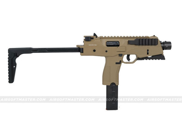 KWA KMP9R Railed Gas Blowback SMG FDE
