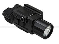 NcStar VAPFLSGV3 Gen3 Pistol Flashlight w/ Strobe & Green Laser Combo