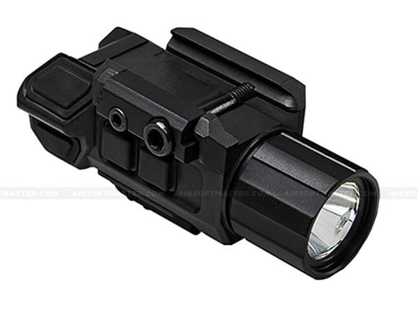 NcStar VAPFLSRV3 Gen3 Pistol Flashlight w/ Strobe & Red Laser Combo