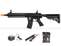 "Lancer LT-12B EVO M4 10"" Free Float Rail Airsoft Gun Black"