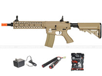 "Lancer LT-12T M4 EVO 10"" Free Float Rail Airsoft Gun Tan"
