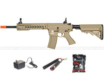 "Lancer Tactical LT-12TK M4 10"" Keymod Rail Airsoft Gun Tan"