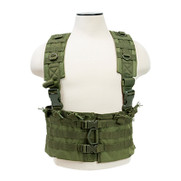 The NcStar CVARCR2922G AR Chest Rig Olive Drab Green