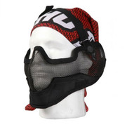 Bravo V2 Strike Metal Mesh Mask - Black