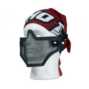 Bravo V1 Strike Steel Half Face Mesh Mask in Black
