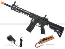 "Lancer Tactical LT-19B-G2 10"" Keymod M4 Gen 2 Airsoft Gun Black"