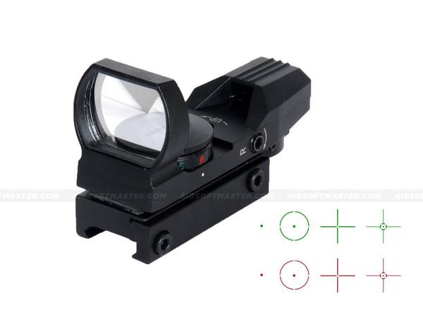 Lancer Tactical CA-401B Red Green Dot Reflex Sight w/ Multi Reticle Black