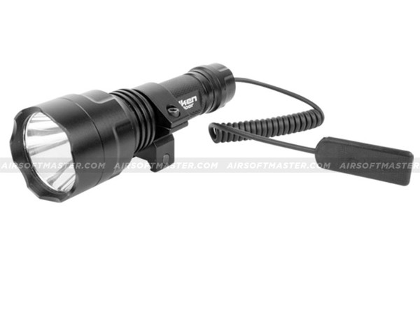 Valken Tactical LED Light w/ Mount Rechargeable Battery