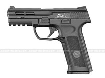 ICS BLE-XAE Ambidextrous Gas Blowback Pistol Black