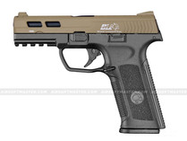 ICS BLE-XAE Ambidextrous Gas Blowback Pistol 2-Tone Tan/Black