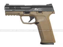 ICS BLE-XAE Ambidextrous Gas Blowback Pistol 2-Tone Black/Tan