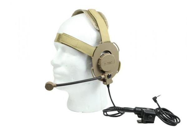 Bravo Headset for Motorola 1-Pin (BM) Tan