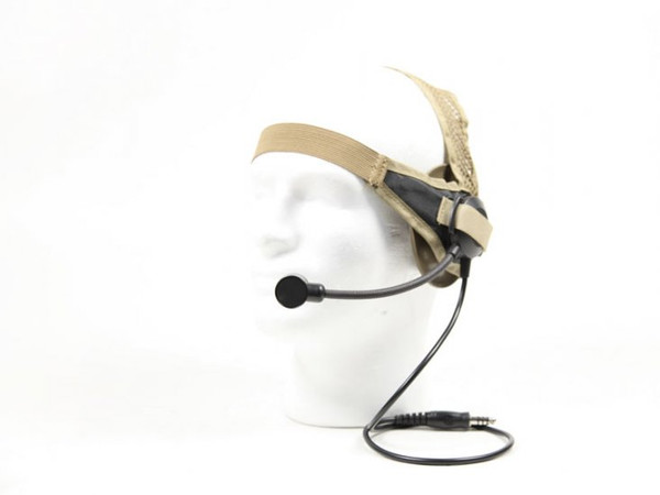Bravo Headset 02 for Motorola 1-Pin (SEL) Tan