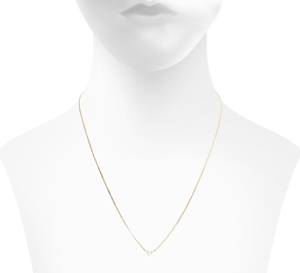Pearl  Side Shown on Neck