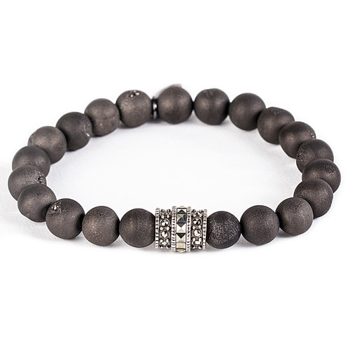 Black Matte Crystal/Antique Rhodium