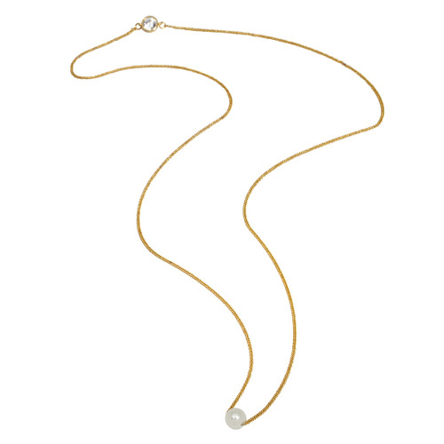Yellow Gold Plated - Pearl Side