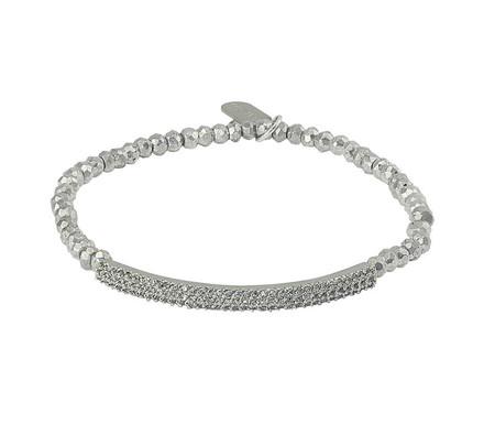Silver Plated Pyrite/Rhodium