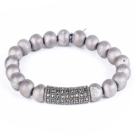 Silver Matte Crystal/Antique Rhodium